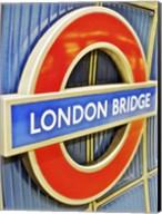 London Bridge Underground Sign Fine-Art Print