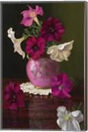 Petunias In Pink Vase Fine-Art Print