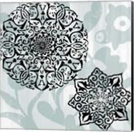 Rosettes on Aqua IV Fine-Art Print