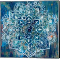 Mandala in Blue II Fine-Art Print