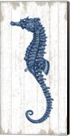 Seahorse in Blue II Fine-Art Print
