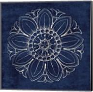 Rosette VII Indigo Fine-Art Print