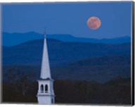 Moon Over Vermont Hills Fine-Art Print
