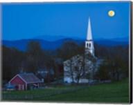 Moonrise Over Peacham Fine-Art Print