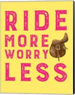 Ride More Worry Less - Yellow Fine-Art Print