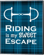 Riding is My Sweet Escape - Blue Fine-Art Print