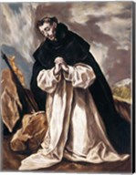 St Dominic in Prayer Fine-Art Print