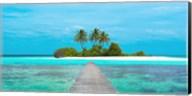 Jetty and Maldivian island Fine-Art Print