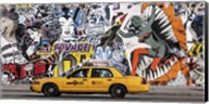 Taxi and Mural Painting in Soho, NYC Fine-Art Print