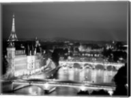 Paris and Seine River at Night Fine-Art Print