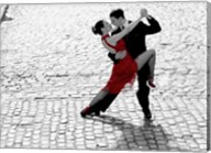 Couple Dancing Tango on Cobblestone Road Fine-Art Print