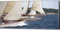 Vintage Sailboats Raicing Fine-Art Print