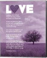 Corinthians 13:4-8 Love is Patient - Lavender Field Fine-Art Print