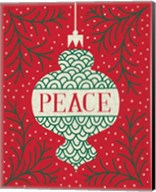 Jolly Holiday Ornaments Peace Fine-Art Print