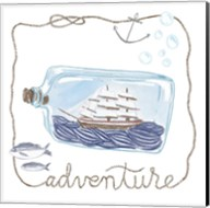 Ship in a Bottle Adventure Fine-Art Print
