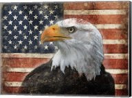 Eagle and Flag Fine-Art Print