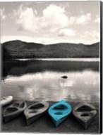 Kayaks Teal Fine-Art Print