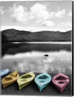 Kayaks Pastels Fine-Art Print