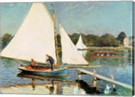 Sailing at Argenteuil, c.1874 Fine-Art Print