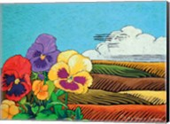 Colorful Pansies in Field Fine-Art Print
