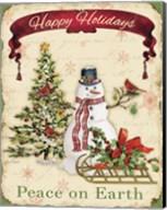 Happy Holidays - Snowman Fine-Art Print