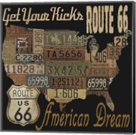 Route 66 - American Dream Kicks Fine-Art Print