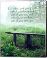 Mark 12:30 Love the Lord Your God (Bench) Fine-Art Print