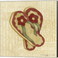Red Flowering Sandals Fine-Art Print