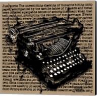 Three-Quarter Typewriter Fine-Art Print