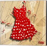 White On Red Fine-Art Print