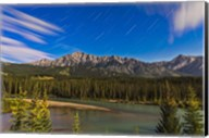Star trails above the Front Ranges in Banff National Park, Alberta, Canada Fine-Art Print