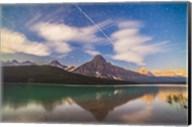 Space Station over Mt Chephren in Banff National Park, Canada Fine-Art Print