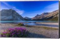 Twilight on Bow Lake, Banff National Park, Canada Fine-Art Print