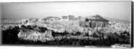 High angle view of buildings in a city, Acropolis, Athens, Greece Fine-Art Print