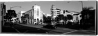 Car moving on the street, Rodeo Drive, Beverly Hills, California Fine-Art Print