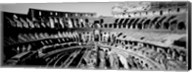 High angle view of tourists in an amphitheater, Colosseum, Rome, Italy Fine-Art Print