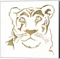 Gilded Lioness Fine-Art Print