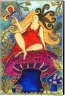 Big Diva Fairy On Mushroom Fine-Art Print