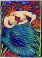 Big Diva Redhead Mermaid Fine-Art Print