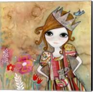 Big Eyed Girl I Am The Queen (No Words) Fine-Art Print