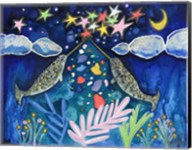 Stargazing Narwhals Fine-Art Print