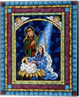 Stained Glass Nativity Fine-Art Print