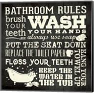 Bath Rules B&W Fine-Art Print