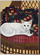Snowball In A Wicker Chair Fine-Art Print