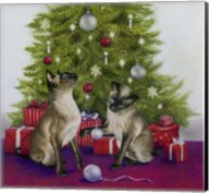Christmas Siamese Cats Fine-Art Print