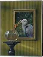 Heron And Goldfish Fine-Art Print