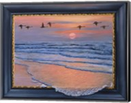 Sundown With Swans Fine-Art Print