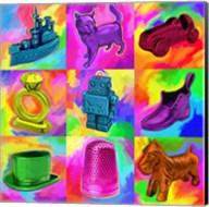 Pop Art Monopoly Pieces Fine-Art Print