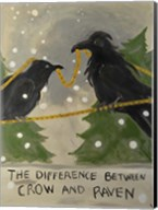 The Difference Between Crow And Raven Fine-Art Print