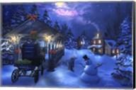 Snowman Crossing Fine-Art Print